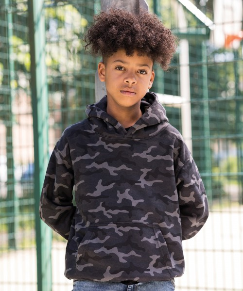 Plain Kids camo hoodie Hoodies AWDis Just Hoods 280 GSM