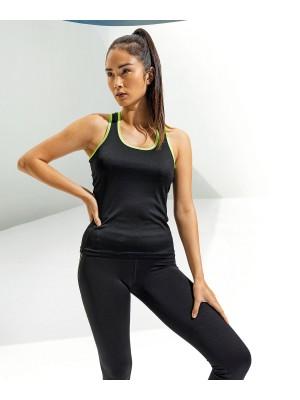 Plain Women's TriDri® panelled fitness vest Top TriDri® 135 GSM