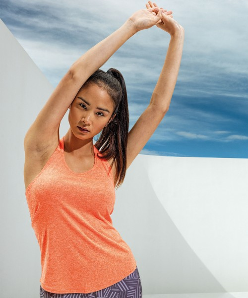 Plain Women's TriDri® double strap back vest T-Shirts TriDri® 135 GSM