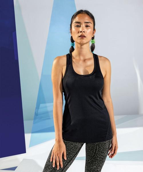 Plain Women's TriDri® 'laser cut' vest Vests TriDri® 135 GSM