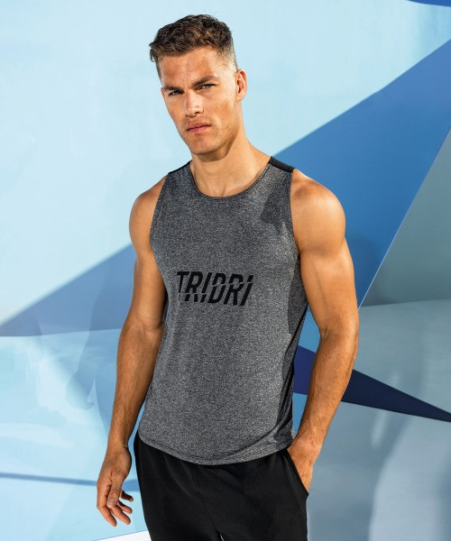 Plain TriDri® performance contrast vest T-shirts TriDri® 135 GSM