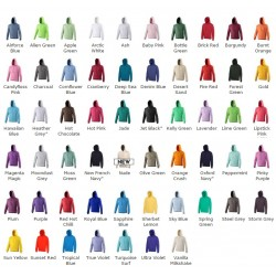 Plain Classic Pullover Hoodie in 300 gsm in 20 colours - Stars & Stripes
