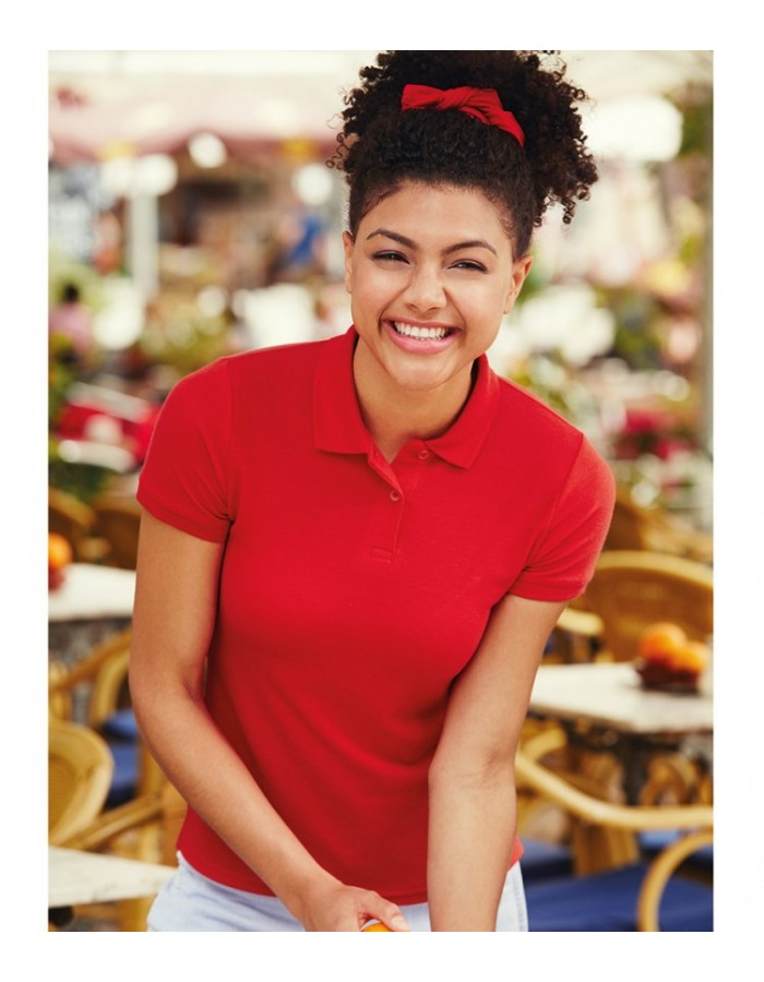 Plain Polo Shirt Lady Fit Fruit Of The Loom 170-180g/m²