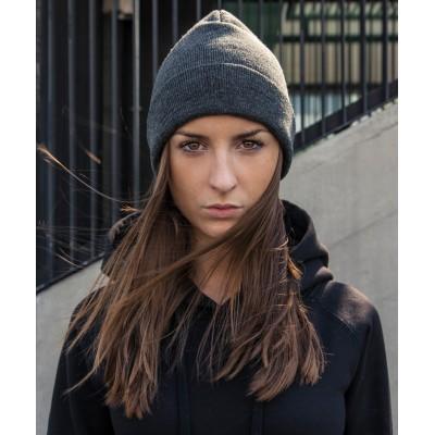 Plain Heavy knit beanie  Beanie Build Your Brand 64 GSM