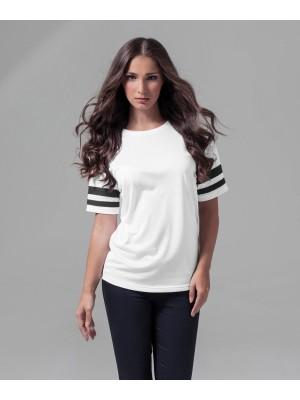 Plain Women's mesh stripe tee T-shirts Build Your Brand 130 GSM