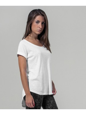 Plain Women's long slub tee  T-shirts Build Your Brand 140 GSM
