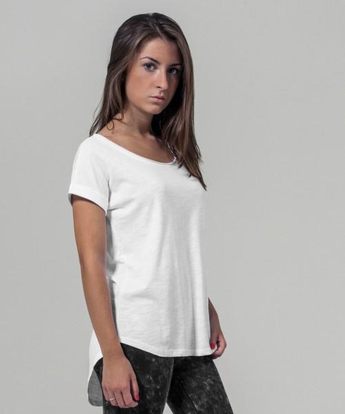 Plain Women's long slub tee  T-shirts Build Your Brand 140 GSM