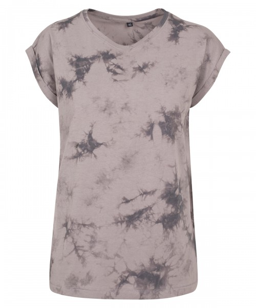 Plain Women's batik dye extended shoulder tee  T-shirts Build Your Brand 160 GSM