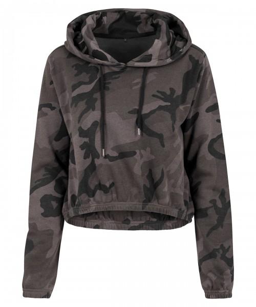 Plain Women's camo cropped hoodie  Hoodies Build Your Brand 250 GSM