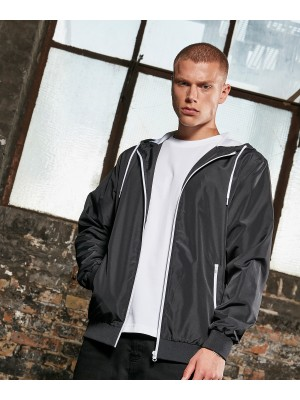 Plain Recycled windrunner Jackets Build Your Brand 82 GSM
