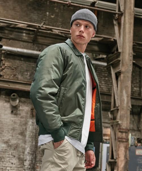 Plain Collar bomber jacket  Jackets Build Your Brand 112 GSM