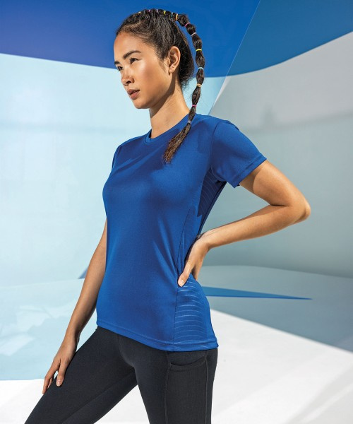 Plain Women's TriDri® embossed panel t-shirt T-shirts TriDri® 135 GSM