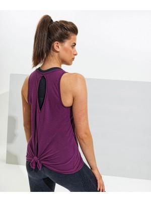 Plain Women's TriDri® tie-back vest Tops TriDri® 120 GSM