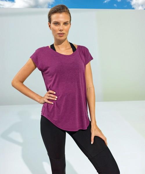 Plain Women's TriDri® yoga cap sleeve top Tops TriDri® 120 GSM