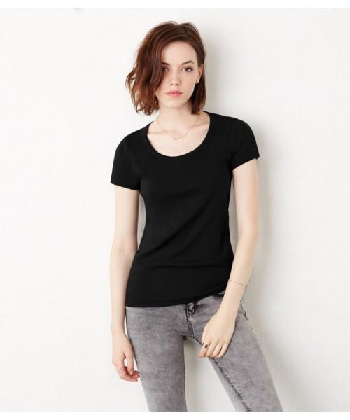 Plain T-Shirt Scoop Neck Bella & Canvas 195 GSM