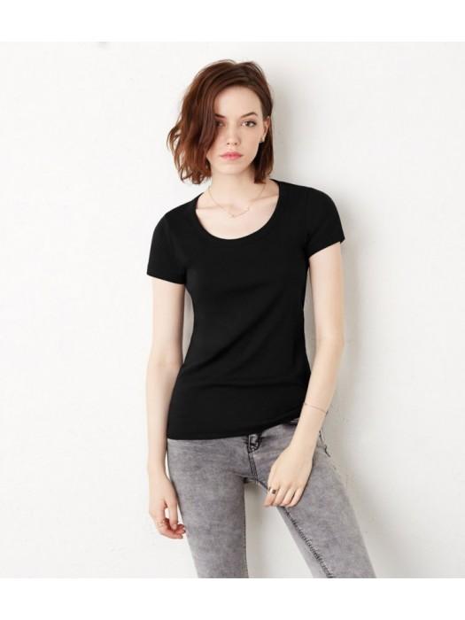 Plain T-Shirt Scoop Neck Bella & Canvas 195 gsm GSM