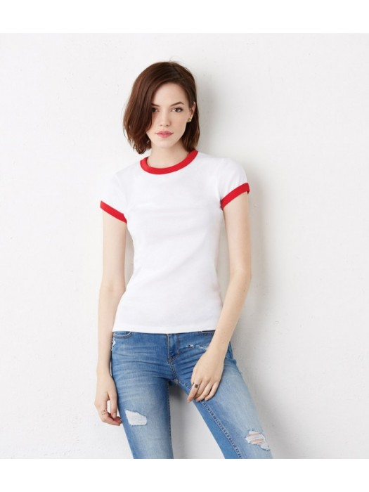 Plain T-Shirt Contrast Bella & Canvas 195 gsm GSM