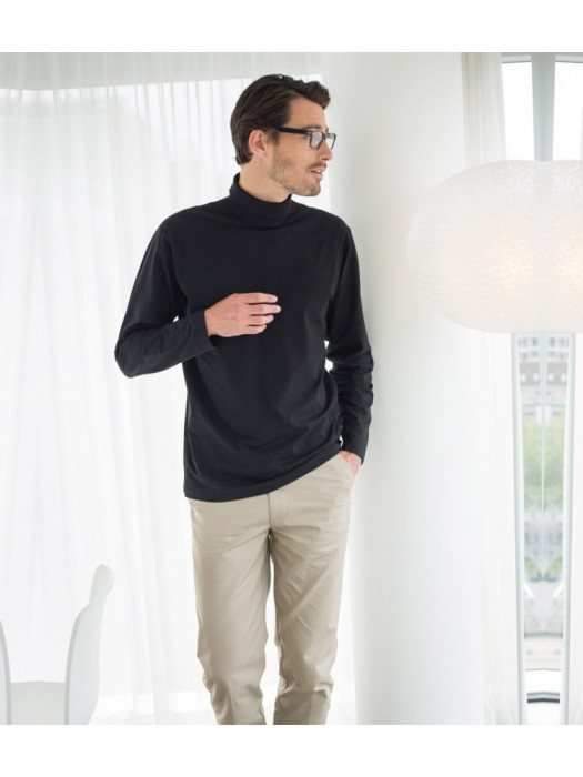 Plain T-Shirt Roll Neck Henbury 190 gsm