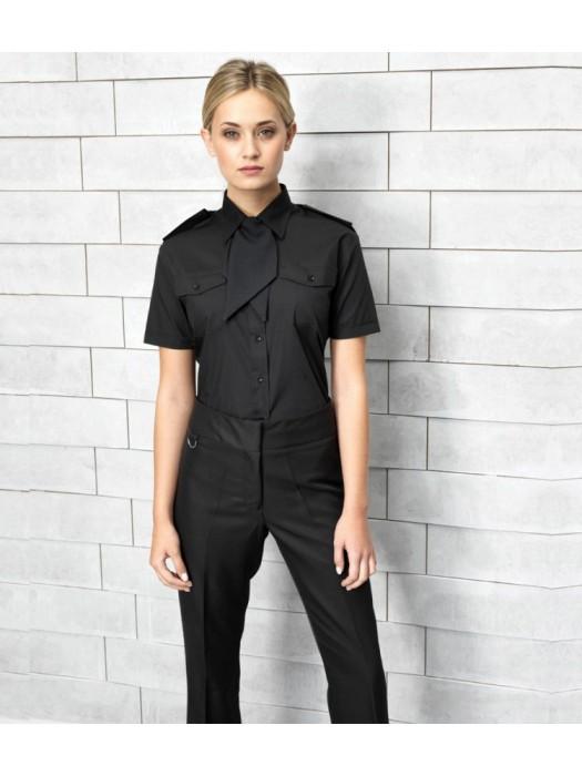 Plain Ladies Short Sleeve Pilot Shirt Premier 105 GSM