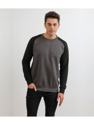 Plain Baseball Sweatshirt AWDis Just Hoods 280 GSM