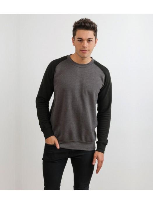 Plain Baseball Sweatshirt AWDis Just Hoods 280 gsm GSM