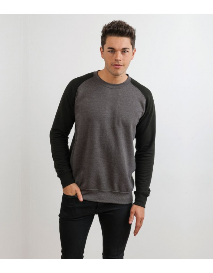 Plain Baseball Sweatshirt AWDis Just Hoods 280 GSM