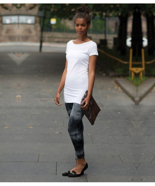 Plain Short Sleeve Slinky T-Shirt Skinnifit 170 GSM