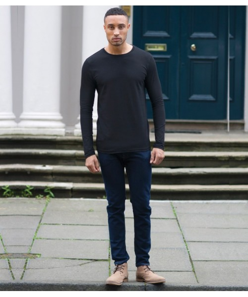 Plain T-Shirt Long Sleeve Skinnifit 165 GSM