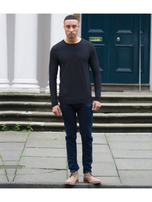Plain T-Shirt Long Sleeve Skinnifit 165 gsm GSM