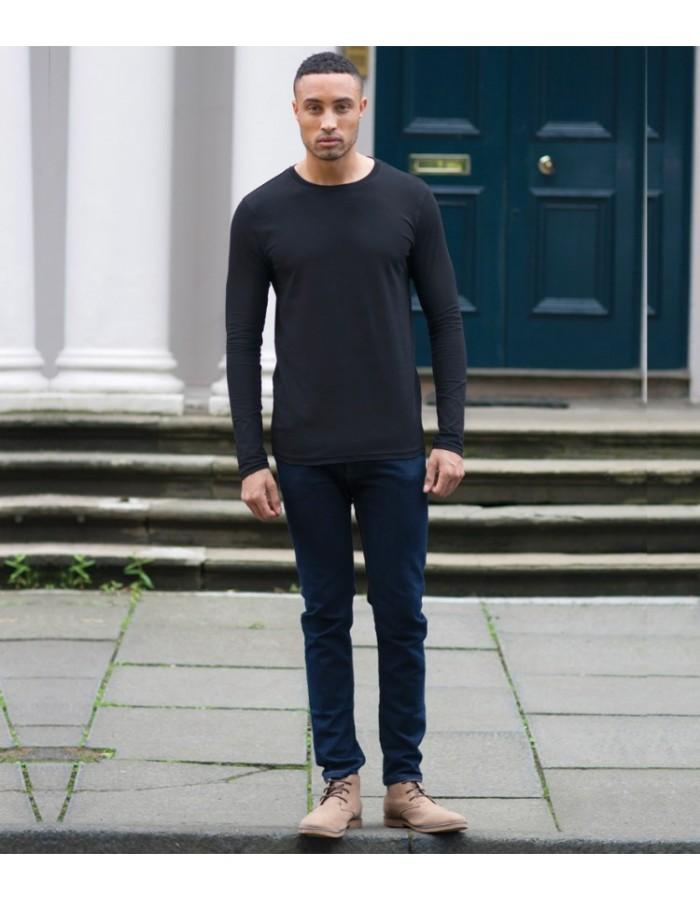 Plain T-Shirt Long Sleeve Skinnifit 165 GSM