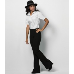 Plain Ladies Short Sleeve Premium Corporate Shirt Kustom Kit 125 GSM