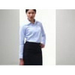 Plain Women's long sleeve herringbone herringbone shirt Russell Collection 125/130gsm