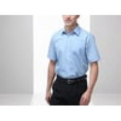 Plain shirt Poplin short sleeve FRUIT of the LOOM 115 GSM