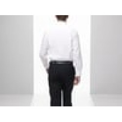 Plain Poplin Shirt Long Sleeve Fruit of the Loom White 115 gsm Cols 120 GSM
