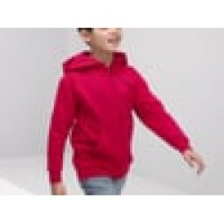 Plain Classic 80/20 kids hooded sweatshirt jacket Fruit Of TheLoom 280 GSM