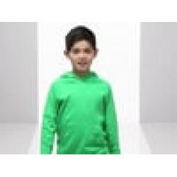 Kids Plain Sweatshirt Hooded Fruit of the Loom 240 GSM