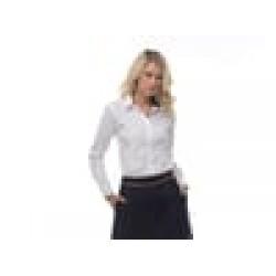 Plain Women's non-iron shirt long sleeve Kustom Kit 125 GSM