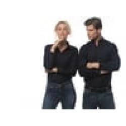 Plain Oxford Shirt Long Sleeve Workwear Kustom Kit 135 GSM