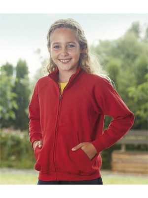 Plain KIDS SWEAT JACKET FRUIT OF THE LOOM 280 GSM