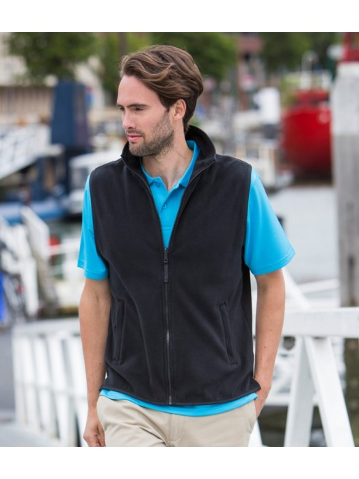 Plain Micro Fleece Jacket Sleeveless Henbury 280 gsm GSM