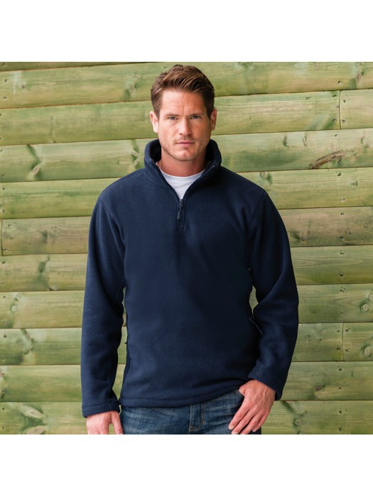 Plain Outdoor Fleece Zip Neck Russell 320 GSM