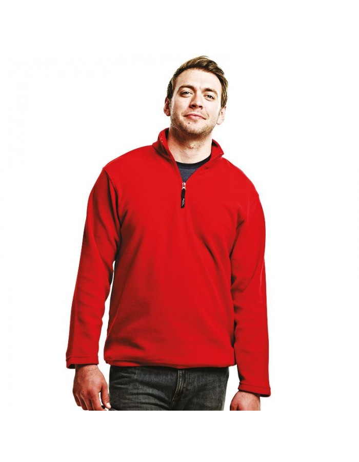 Plain Micro Fleece Zip Neck Regatta 170 GSM