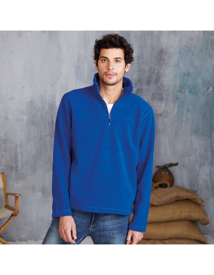 Plain Micro Fleece Enzo Zip Neck Kariban 300 GSM