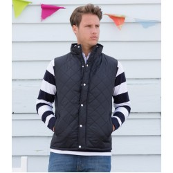 Plain Gilet Diamond Quilted Front Row N/A GSM