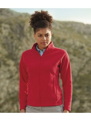Plain Fleece Jacket Lady Fit Outdoor Fruit of the Loom 300 gsm GSM
