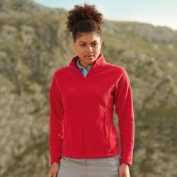 Plain Fleece Jacket Fit Outdoor Fruit of the Loom 300 GSM