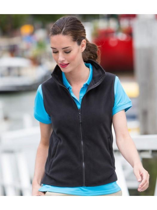 Plain Micro Fleece Jacket Ladies Sleeveless Henbury 280 gsm GSM