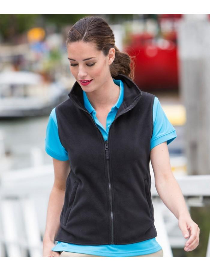 Plain Micro Fleece Jacket Ladies Sleeveless Henbury 280 GSM