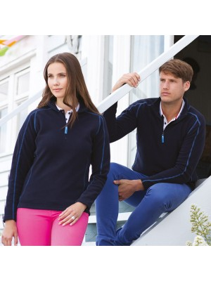 Plain Micro Fleece Ladies Zip Neck Front Row 200 GSM