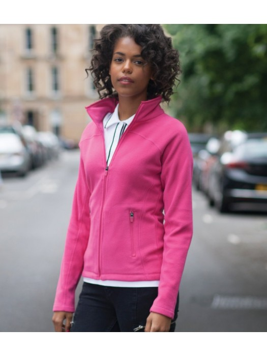 Plain Micro Fleece Jacket Ladies  Skinnifit 200 GSM
